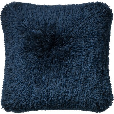 Ribbon Shag Throw Pillow Cover Color: Navy