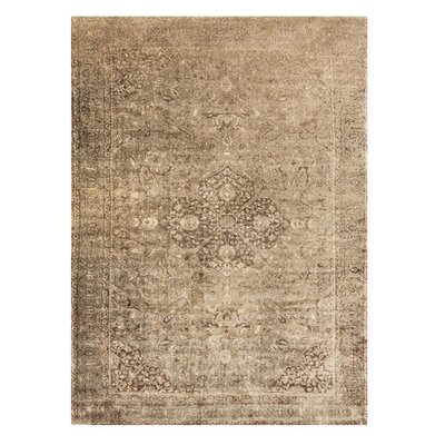 Keever Sand/Dark Brown Area Rug Rug Size: Rectangle 92 x 122