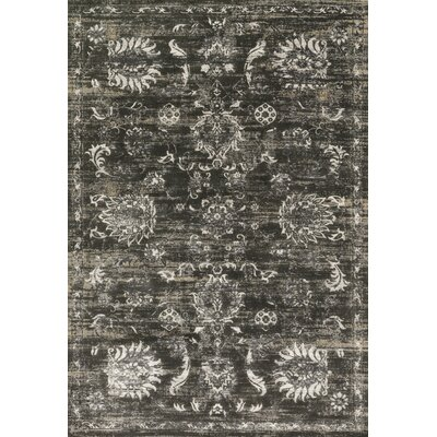 Abella Charcoal Area Rug Rug Size: Rectangle 53 x 76
