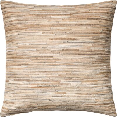 Faherty Throw Pillow Cover Color: Beige