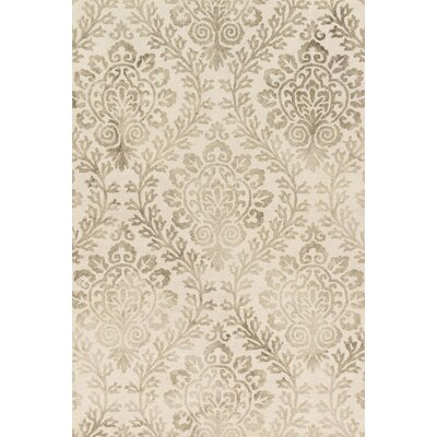 Kirsch Hand-Hooked Stone Area Rug Rug Size: Rectangle 5 x 76