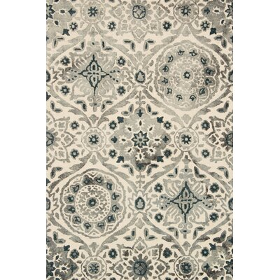 Kirsch Hand-Hooked Slate Area Rug Rug Size: Rectangle 79 x 99