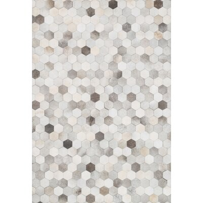 Murtaz Gray Area Rug Rug Size: Rectangle 76 x 96