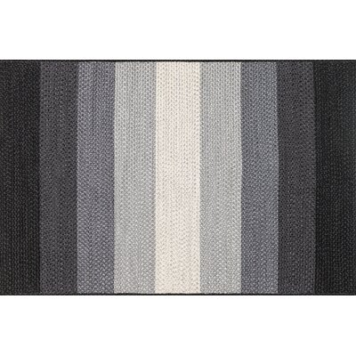 Garrett Hand-Braided Black/Ivory Indoor/Outdoor Area Rug Rug Size: 79 x 99