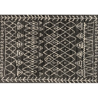 Aparicio Black/Ivory Area Rug Rug Size: Rectangle 77 x 106
