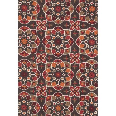 Francesca Hand-Woven Brown/Spice Area Rug Rug Size: 36 x 56
