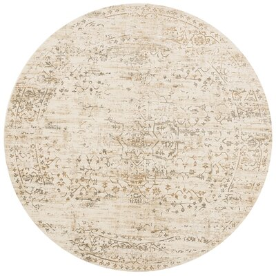 Kingston Cream Area Rug Rug Size: Round 710