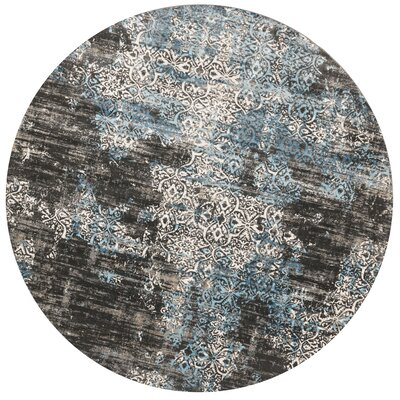 Kingston Charcoal Area Rug Rug Size: Round 710