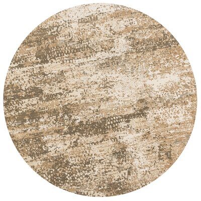 Kingston Ivory Area Rug Rug Size: Round 93