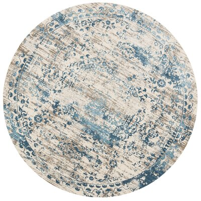 Kingston Ivory Area Rug Rug Size: Round 710
