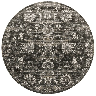 Kingston Charcoal Area Rug Rug Size: Round 93