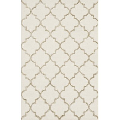 Kirkbride Ivory/Beige Area Rug Rug Size: Rectangle 76 x 96