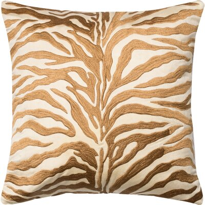 Throw Pillow Color: Bronze