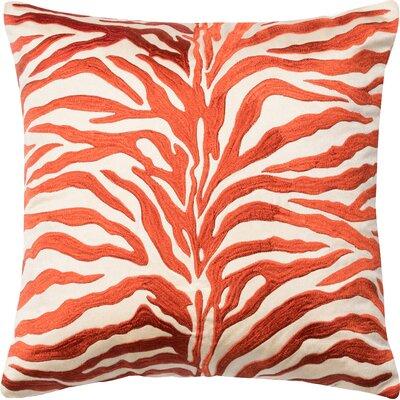Throw Pillow Color: Rust/Beige
