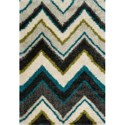 Danna Ivory/Black Area Rug Rug Size: Rectangle 39 x 56