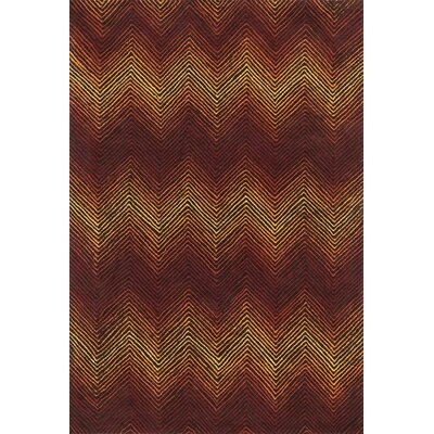 Karakoudas Brown/Spice Area Rug Rug Size: Rectangle 7'9