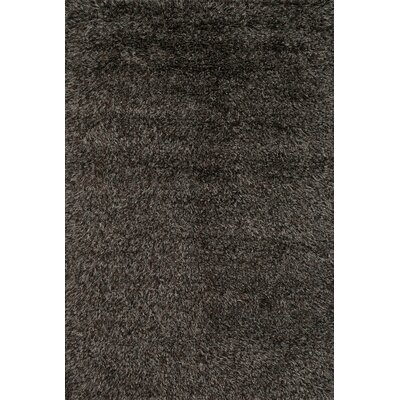 Turco Hand-Woven Faux Fur Black Area Rug Rug Size: Rectangle 5 x 76