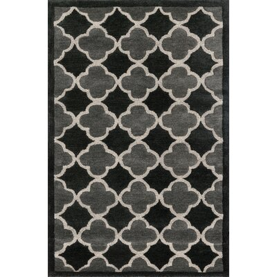 Dandridge Hand-Tufted Black/Gray Area Rug Rug Size: Rectangle 36 x 56