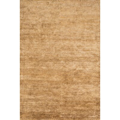 Hively Hand-Knotted Amber Area Rug Rug Size: Rectangle 56 x 86