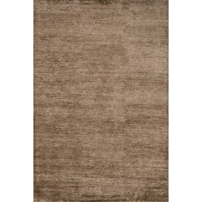 Byron Hand-Knotted Brown Area Rug Rug Size: 56 x 86