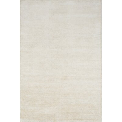 Hively Hand-Knotted Ivory Area Rug Rug Size: Rectangle 56 x 86