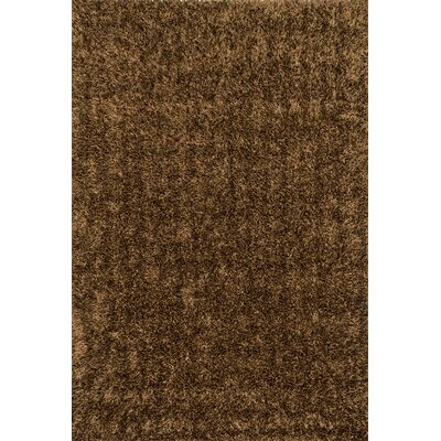 Carrera Shag Hand-Hooked Brown Area Rug Rug Size: Rectangle 79 x 99