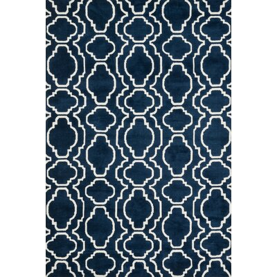 Mazurek Navy Area Rug Rug Size: Rectangle 23 x 39