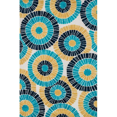 Cassidy Blue/Yellow Area Rug Rug Size: Rectangle 76 x 96