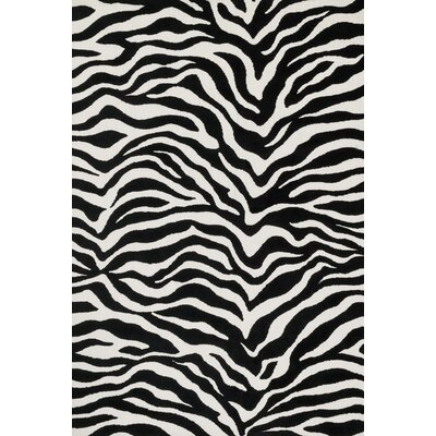 Cassidy Ivory/Black Area Rug Rug Size: Rectangle 76 x 96