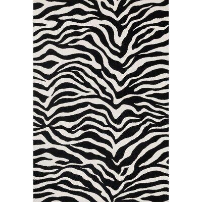 Cassidy Ivory/Black Area Rug Rug Size: Rectangle 93 x 13
