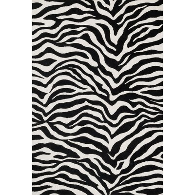 Cassidy Ivory/Black Area Rug Rug Size: Rectangle 36 x 56