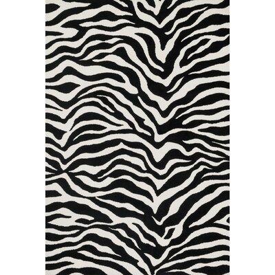 Cassidy Ivory/Black Area Rug Rug Size: 23 x 39