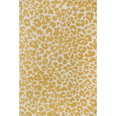 Cassidy Ivory/Yellow Area Rug Rug Size: 36 x 56