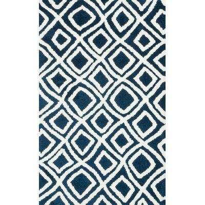 Charlotte Navy Rug Rug Size: Rectangle 36 x 56