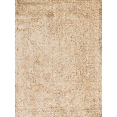Anastasia Ivory/Light Gold Area Rug Rug Size: 37 x 57