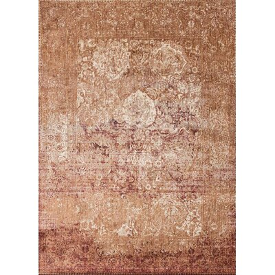 Anastasia Copper/Burgundy Area Rug Rug Size: Rectangle 67 x 92