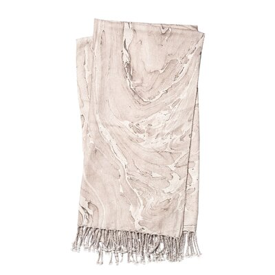 Nika Cotton Throw Color: Beige / Brown