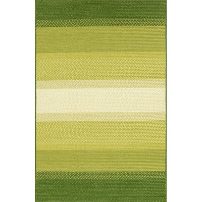 Barta Green Indoor/Outdoor Area Rug Rug Size: Rectangle 5 x 76