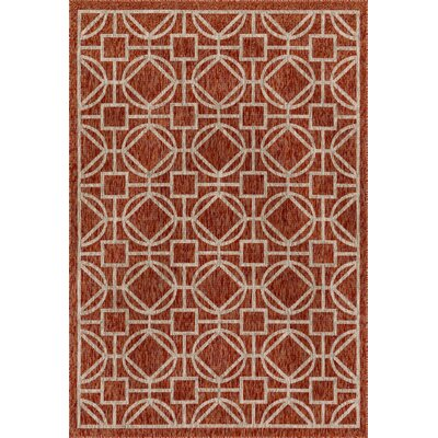 Summerfield Spice Indoor/Outdoor Area Rug Rug Size: Rectangle 710 x 109