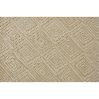 Manon Contemporary Hand Tufted Wool Beige Area Rug Rug Size: 3'6