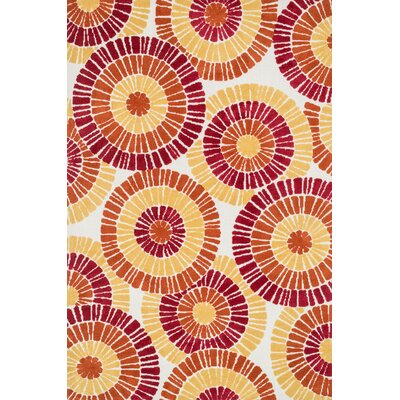 Mazurek Orange/Yellow Area Rug Rug Size: Rectangle 36 x 56