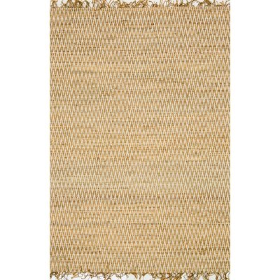 Gerald Hand-Woven Beige Area Rug Rug Size: Rectangle 36 x 56