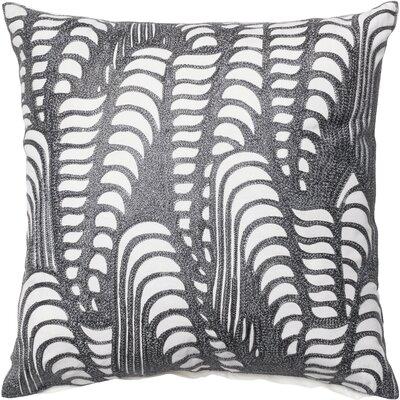 Cotton Throw Pillow Color: Silver