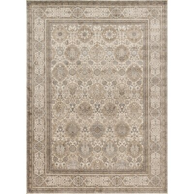 Adelbert Sand/Taupe Area Rug Rug Size: Rectangle 53 x 76