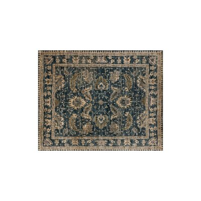Empress Hand-Knotted Indigo/Slate Area Rug Rug Size: 79 x 99