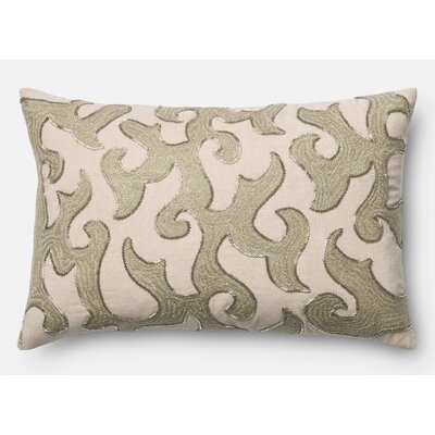 Normand Cotton Lumbar Pillow Color: White/Beige