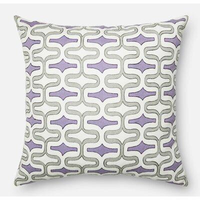 100% Cotton Pillow Cover Color: Gray/Plum