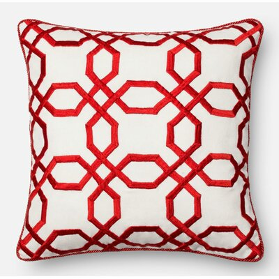 Throw Pillow Color: Red/White
