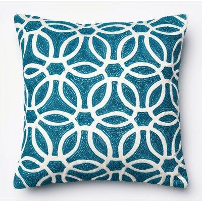 Throw Pillow Color: Blue/White