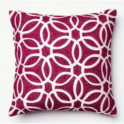 Throw Pillow Color: Magenta/White